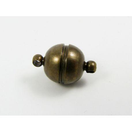 Magnetinis užsegimas, rankdarbiams,bronzinės spalvos, dydis 16x10 mm
