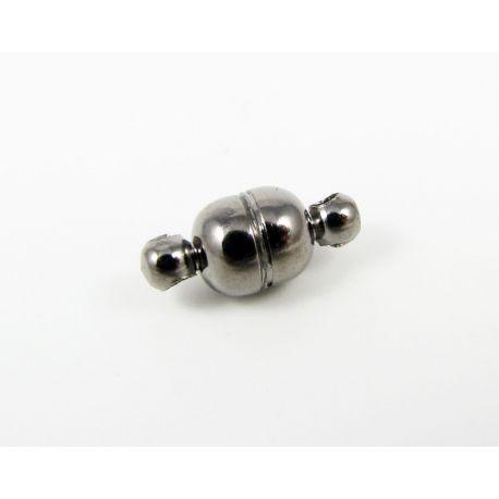 Magnetinis užsegimas, rankdarbiams, juodos spalvos, dydis 11x5 mm