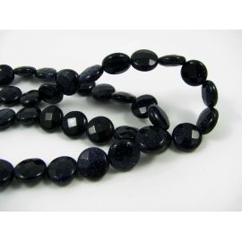 Blue goldstone beads 8 mm