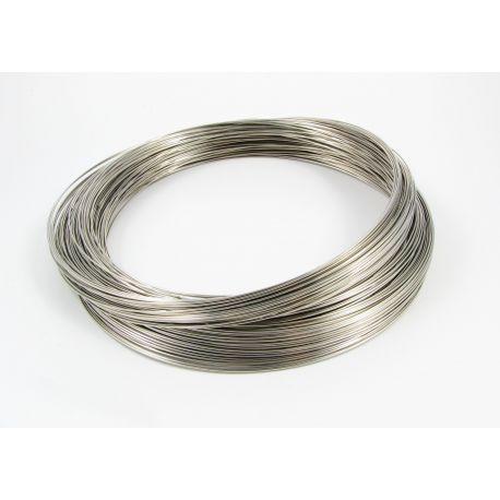 Viela skirta rankdarbiams, tamsios sidabro spalvos, storis apie 0.60 mm, žiedo diametras 115 mm, 10 žeidų