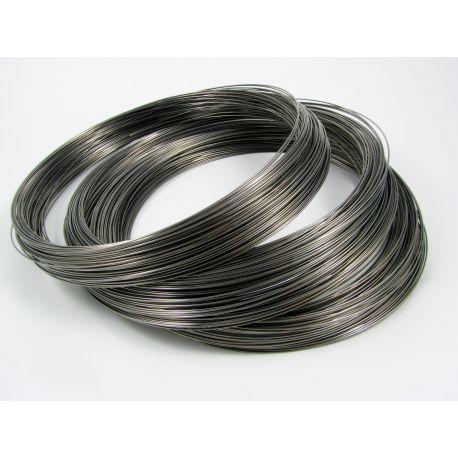 Viela skirta rankdarbiams, juodos spalvos, storis apie 0.60 mm, žiedo diametras 115 mm, 10 žiedų