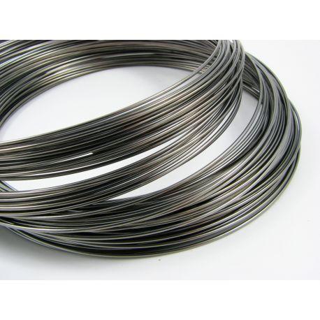 Viela skirta rankdarbiams, juodos spalvos, storis apie 1.00 mm, žiedo diametras 115 mm