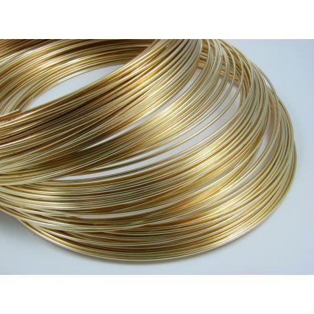Viela skirta rankdarbiams, aukso spalvos, storis apie 1.00 mm, žiedo diametras 115 mm