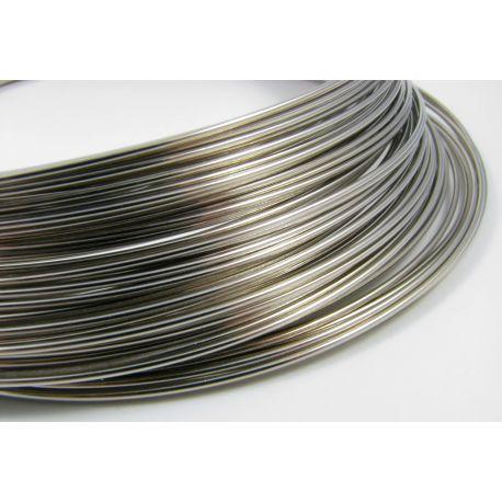 Viela skirta rankdarbiams, tamsios sidabro spalvos, storis apie 1.00 mm, žiedo diametras 115 mm