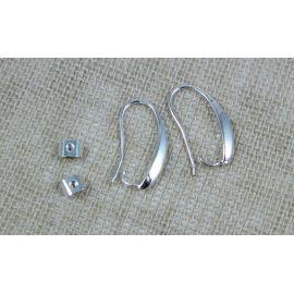 Kabliukai auskarams, 1 pora 18x14 mm