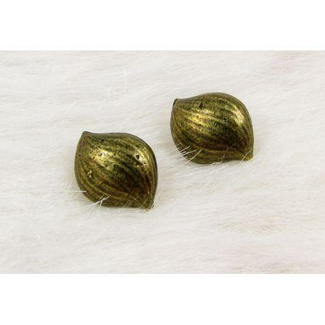 Kabliukai skirti auskarų gamybai, su viena kilpute, sendintos bronzinės spalvos, dydis 16x13x5 mm 1 pora