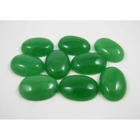 Agato kabošonas, žalios spalvos, ovalo formos, dydis 18x13 mm