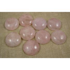 Rožinio kvarco kabošonas 22 mm