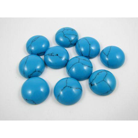 Turkio kabošonas, ryškiai mėlynos spalvos, apvalios formos, dydis 12 mm