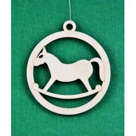Arkliukas - žaisliukas išpjautas laseriu iš 3 mm faniers, galima dažyti ar kitaip pagražinti.