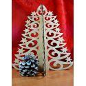 Medinė Kalėdų eglutė