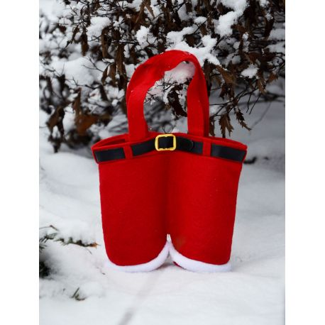 Santa Claus candy pants, little giveaway, size about 17x14 cm