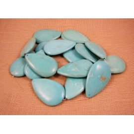 Synthetic turquoise beads 48x30 mm, 1 pcs.
