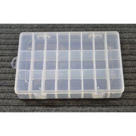 Plastikinė dėžutė karoliukams 200x140 mm, 1 vnt.