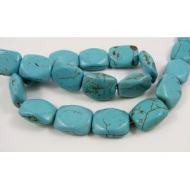 Synthetic turquoise beads 20x16 mm, 1 pcs.