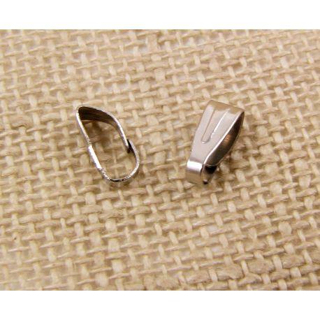Laikiklis skirtas auskarams, pakabukams, nikelio spalvos, dydis apie 7x3 mm 1 vnt.