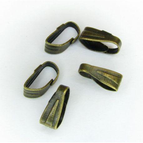 Laikiklis skirtas auskarams, pakabukams, bronzinės spalvos, dydis apie 7x3 mm 1 vnt.