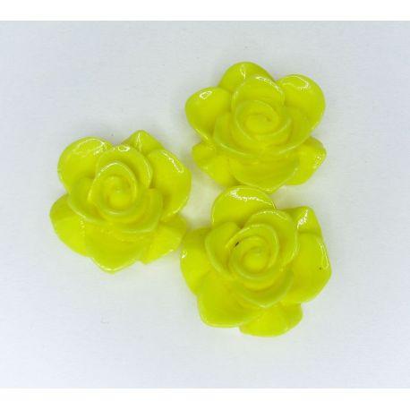 """Kamėja """"Gėlytė"""" skirta papuošalų gamybai ryškiai geltonos spalvos 19x9 mm"""