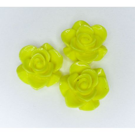 Kamėja - gėlytė rankdarbiams, pakabukams ryškiai geltonos spalvos 19x9 mm