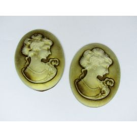 Cameo - Flower 16x8 mm