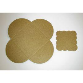 Card for earrings + envelope 50x50 mm, 1 pcs.