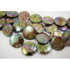 Perlų masės karoliukai 20 mm, 1 vnt.