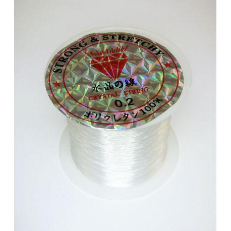 Valas akmeniniams karoliukams, perlams, vėriniams verti, skaidrus 0.20 mm storio, 100 metų