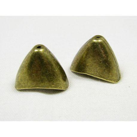 Kepurėlė skirta papuošalų gamybai, karoliukams, akmenukams, sendintos bronzinės spalvos 20x16 mm dydžio