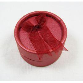 Dovanų dėžutė žiedui, sagei, pakabukui, kartoninė, raudonos spalvos 53x32 mm, 1 vnt.