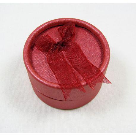 Dovanų dėžutė, kartoninė, raudonos spalvos 53x32 mm, 1 vnt.