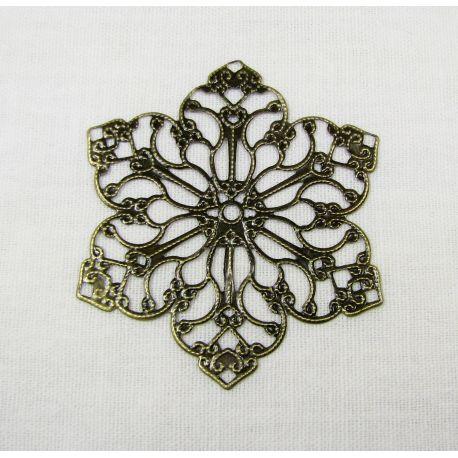 Ažūrinė plokštelė - skirta papuošalų gamybai,sendintos bronzinės spalvos, 55 mm
