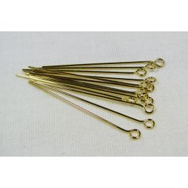 Žalvariniai smeigtukai 35x0.6 mm, ~100 vnt. (11,00 g.)