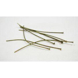 Brass pins 60x0.7 mm, ~100 pcs. (20,70 g)