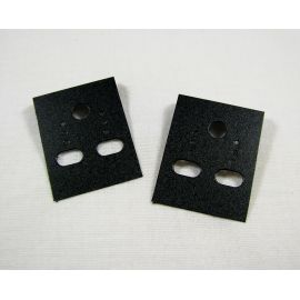 Card for earrings, black without inscriptions 40x30 mm, 10 pcs.
