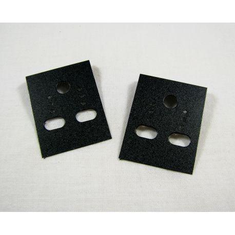 Papuošalų, rankdarbių eksponavimo plastikinė kortelė auskarams, juodos spalvos 40x30 mm