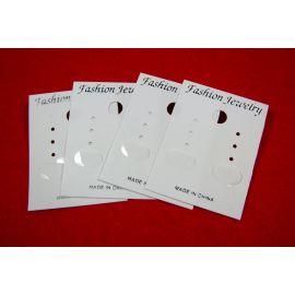 Card for earrings, white 60x37 mm, 20 pcs.