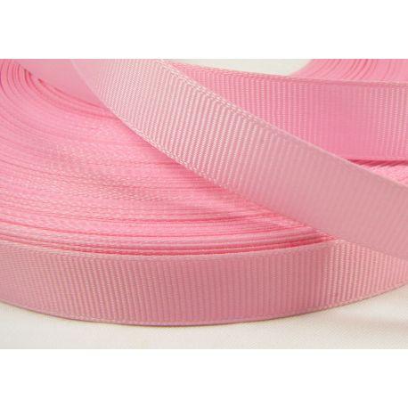 Satino juostelė rankdarbiams, papuošalams, šviesios rožinės spalvos, 16 mm pločio, 1 metras