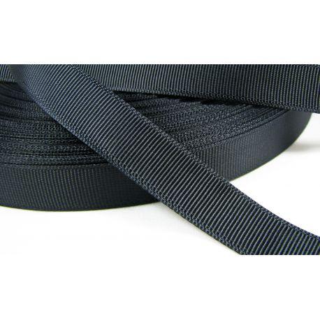 Satino juostelė, dvipusė, juodos spalvos, 16 mm pločio, 1 metras