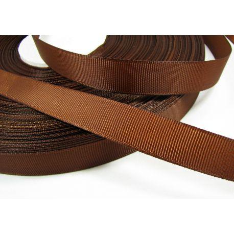 Satino juostelė rankdarbiams, papuošalams, rudos spalvos, 16 mm pločio, 1 metras