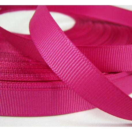 Grosgrain juostelė rankdarbiams, papuošalams, ryškiai rožinės spalvos, 12 mm pločio, 1 metras