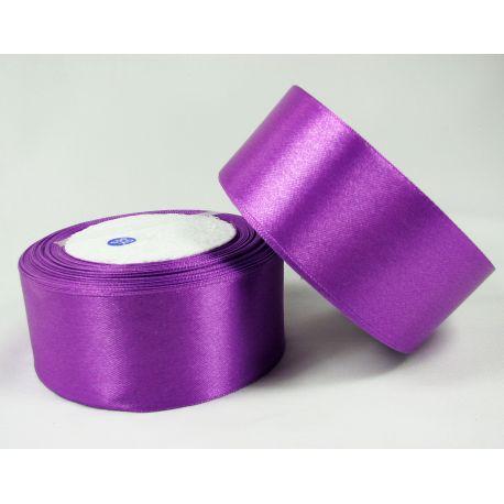 Satininė juostelė rankdarbiams, papuošalams, violetinės spalvos, 40 mm pločio, 1 metras