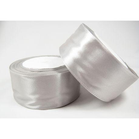Satino juostelė, sidabro spalvos, 40 mm pločio, 1 metras