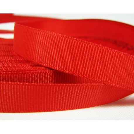 Grosgrain juostelė rankdarbiams, papuošalams,raudonos spalvos, 12 mm pločio, 1 metras