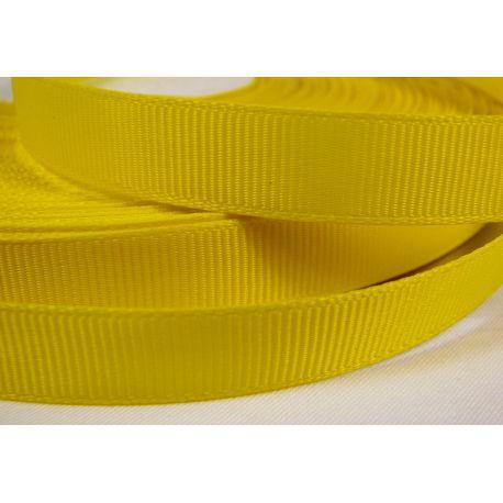 Grosgrain juostelė rankdarbiams, papuošalams,geltonos spalvos, 12 mm pločio, 1 metras