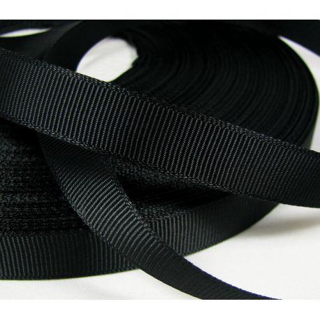 Grosgrain juostelė rankdarbiams, papuošalams,juodos spalvos, 12 mm pločio, 1 metras