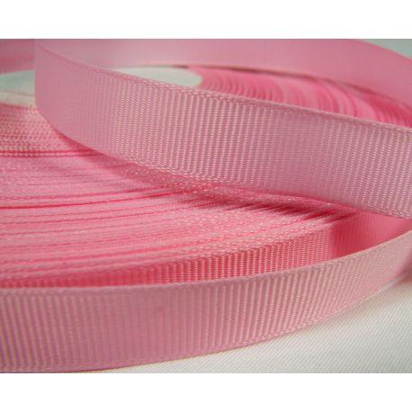 Grosgrain juostelė rankdarbiams, papuošalams,rožinės spalvos, 12 mm pločio, 1 metras