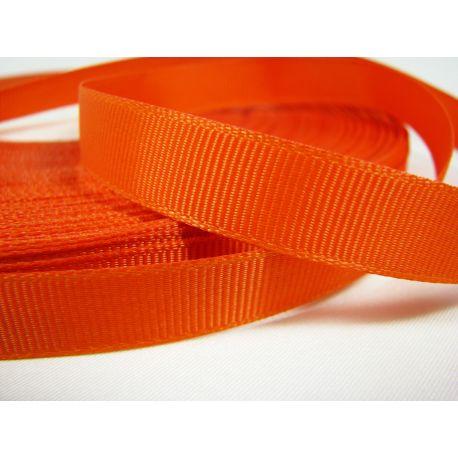 Grosgrain juostelė rankdarbiams, papuošalams,oranžinės spalvos, 12 mm pločio, 1 metras