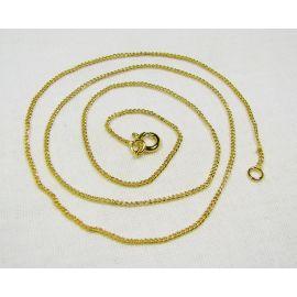 Grandinėlė su užsegimu, aukso spalvos, 1,2 mm 48 cm ilgio, 5 vnt