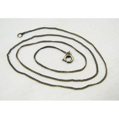 Grandinėlė sendintos bronzinės spalvos, pakabukams, rankdarbiams, papuošalams 1,2 m, 48 cm ilgio