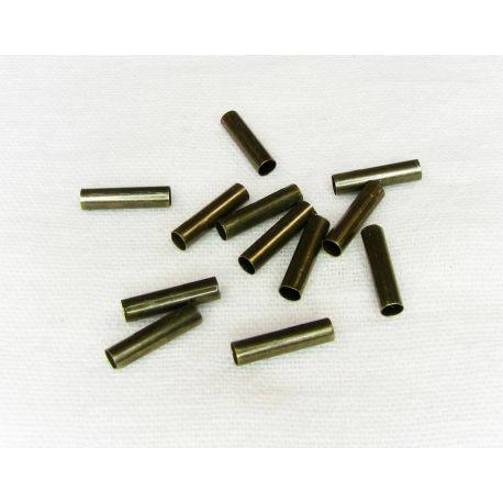 Intarpas skirtas papuošalų, rankdarbių gamybai, sendintos bronzinės spalvos, vamzdelio formos 2 mm 100 vnt